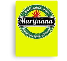 MARIJUANA BEER  Canvas Print