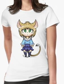 Cat Girl Chibi Womens Fitted T-Shirt