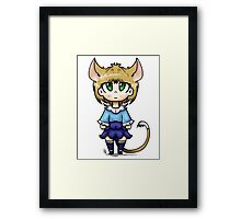 Cat Girl Chibi Framed Print