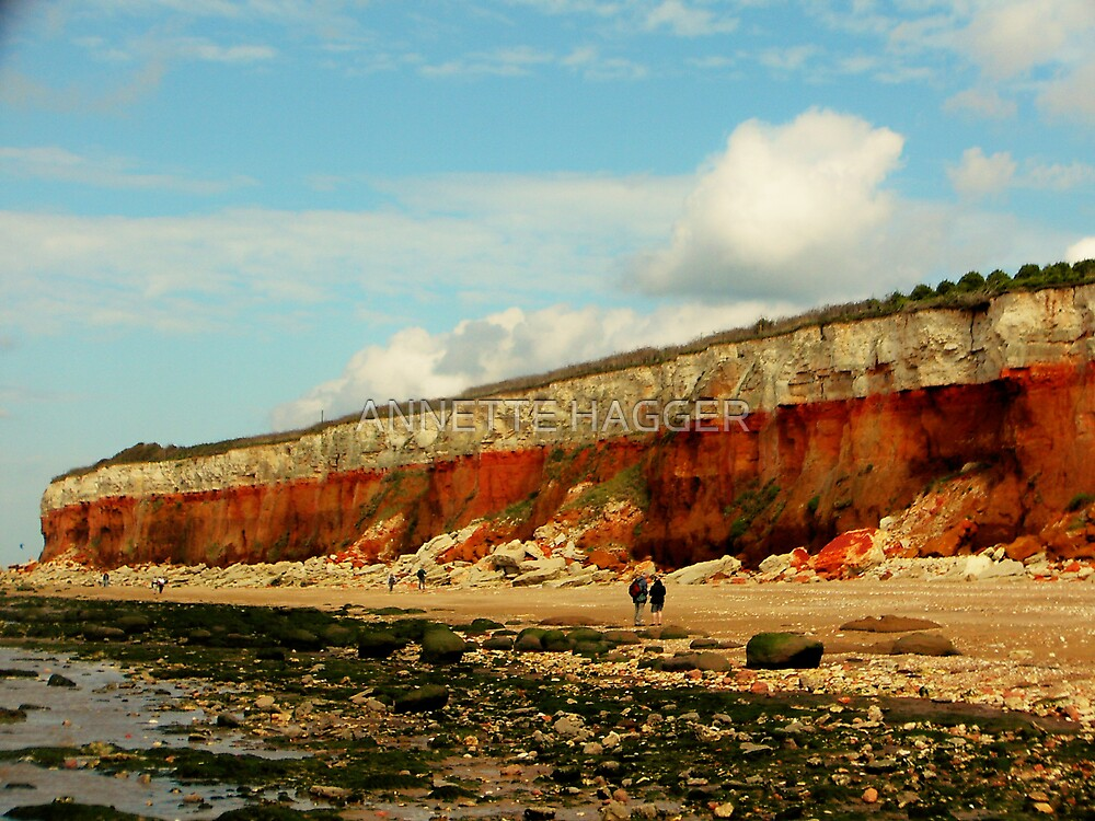 CLIFFS AT OLD HUNSTANTON by ANNETTE HAGGER