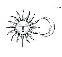 Bohemian Sun & Moon Photographic Print