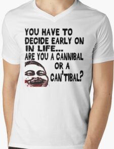 Are You a Cannibal - humor Mens V-Neck T-Shirt