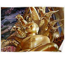 Buddha And Naga Poster