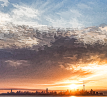Brilliant June Sunrise - Toronto Skyline Impressions Sticker
