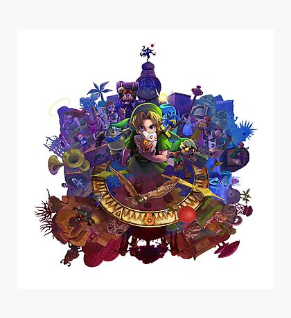 The Legend of Zelda Majora's Mask 3D Artwork #3 Full Cover Photographic Print