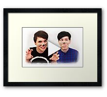 Dan & Phil YouTube Play Button Framed Print