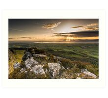 Sunset from Binevenagh Art Print