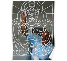 Painting Buddha Poster