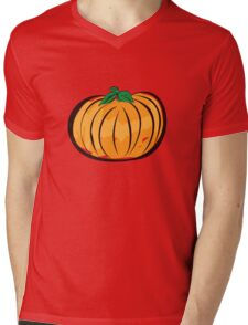 Abstract halloween pumpkin 2 Mens V-Neck T-Shirt