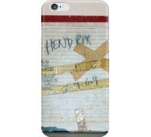 Jimi Hendrix box for original studio master tape, wide view iPhone Case/Skin