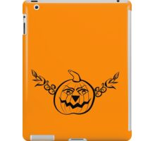 Abstract halloween pumpkin 4 iPad Case/Skin