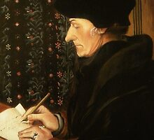 Erasmus by Hans Holbein the Younger by Zoran Kudra