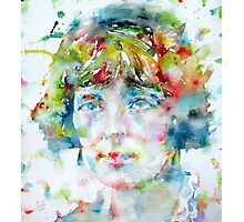 KATHERINE MANSFIELD - watercolor portrait Photographic Print