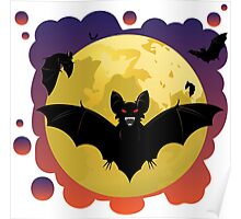 Bats and Moon Poster