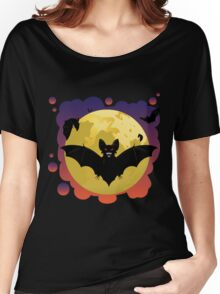 Bats and Moon Women's Relaxed Fit T-Shirt