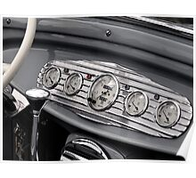 Detail of a classic car Poster