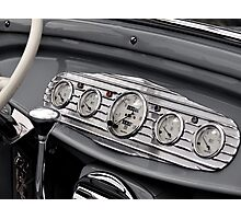 Detail of a classic car Photographic Print