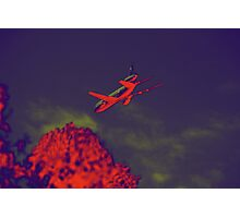 FLYING OVER THE INFERNO Photographic Print