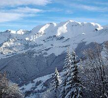 Italian Alps, snowy ranges by Stan Daniels