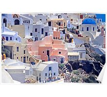 Oia Colors Poster