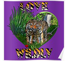 LOVE WILDLY (purple) Poster