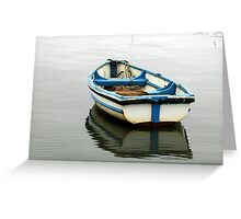 boat on the water, reflection Greeting Card