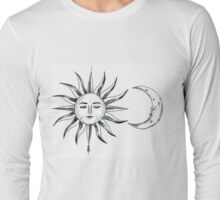 Bohemian Sun & Moon Long Sleeve T-Shirt