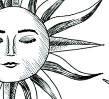 Bohemian Sun & Moon Sticker