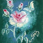 The Finger-Painted Rose by AngelArtiste