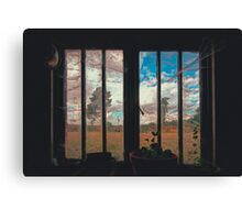 The Potting Shed Window  Canvas Print