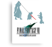 Final Fantasy VII The Sacrifice Of Cloud Canvas Print