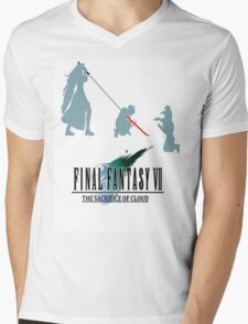 Final Fantasy VII The Sacrifice Of Cloud Mens V-Neck T-Shirt