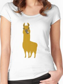 Llama is cool Women's Fitted Scoop T-Shirt