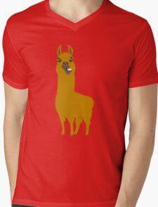 Llama is cool Mens V-Neck T-Shirt