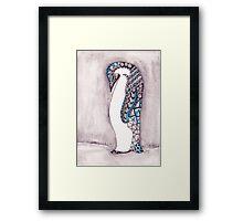 Pattern Penguin Framed Print
