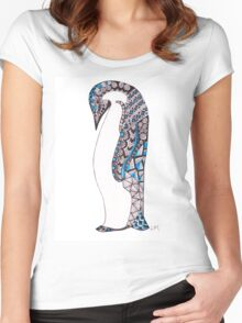 Pattern Penguin Women's Fitted Scoop T-Shirt