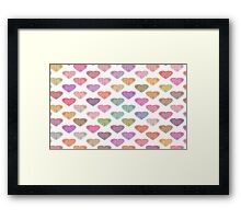 Colorful Hearts - Valentine's Series Framed Print
