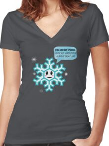 Special Snowflake Women's Fitted V-Neck T-Shirt