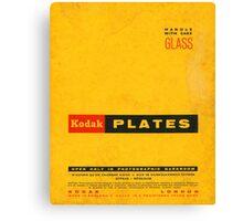 Vintage Kodak Plates Canvas Print