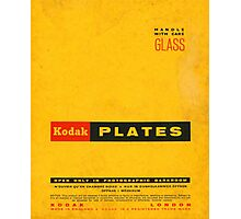 Vintage Kodak Plates Photographic Print