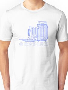 Vintage Photography - Graflex (Version 2) - Blue Unisex T-Shirt