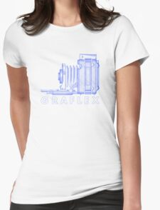 Vintage Photography - Graflex (Version 2) - Blue Womens Fitted T-Shirt