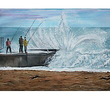 Fishing, Collaroy Beach, Australia, Seascape Photographic Print