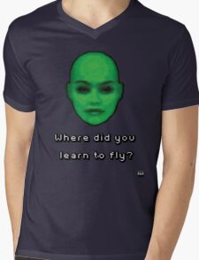 Where did you learn to fly? Mens V-Neck T-Shirt