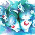 clowns in the blue by Dantapley
