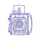 Vintage Photography - Graflex - Blue by brainsontoast