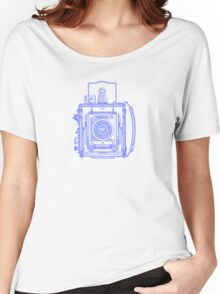 Vintage Photography - Graflex - Blue Women's Relaxed Fit T-Shirt