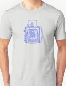Vintage Photography - Graflex - Blue Unisex T-Shirt