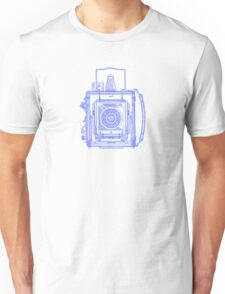 Vintage Photography - Graflex - Blue Unisex T-Shirt