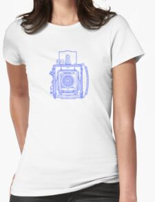 Vintage Photography - Graflex - Blue Womens Fitted T-Shirt